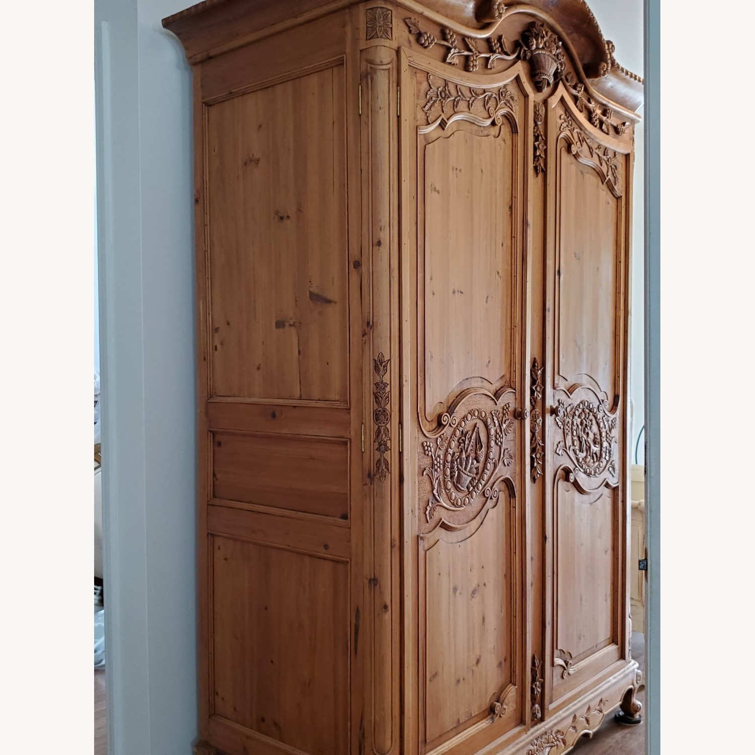 Hand Carved Armoire - image-2