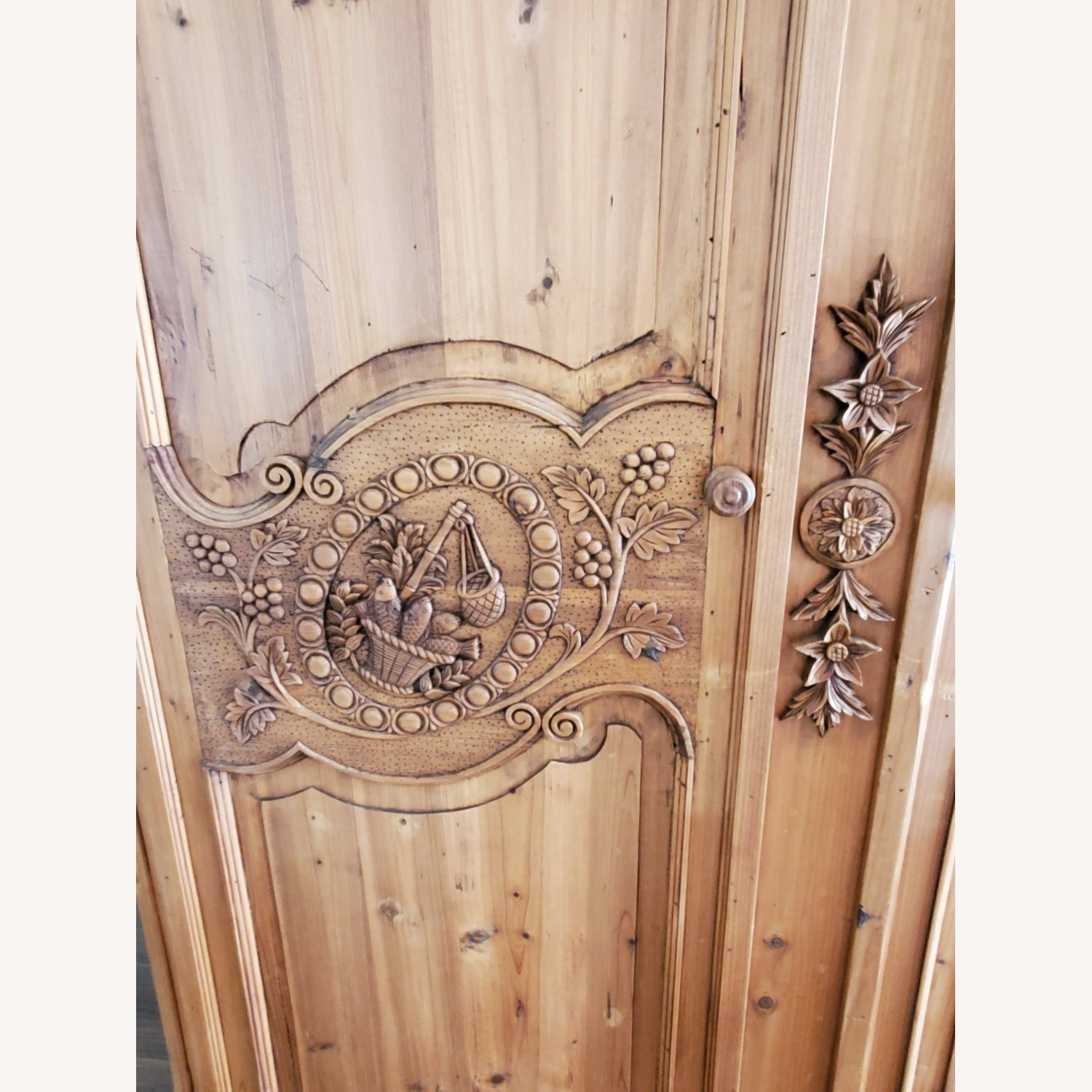 Hand Carved Armoire - image-6