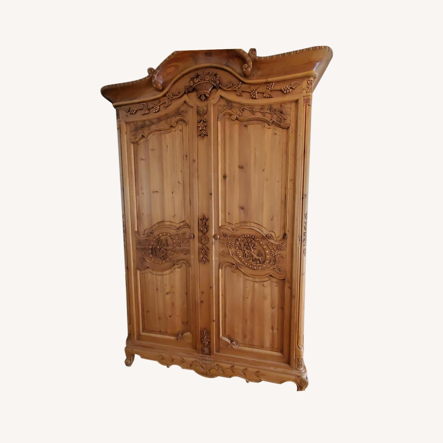 Hand Carved Armoire - image-0