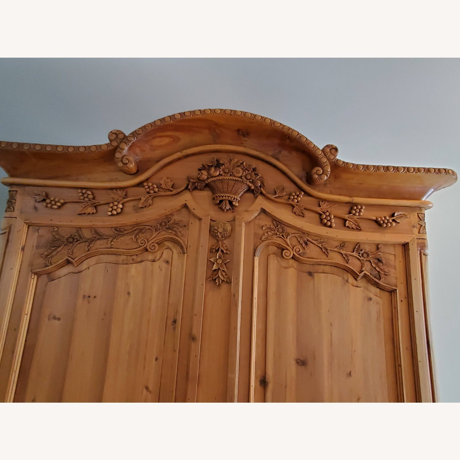 Hand Carved Armoire - image-4
