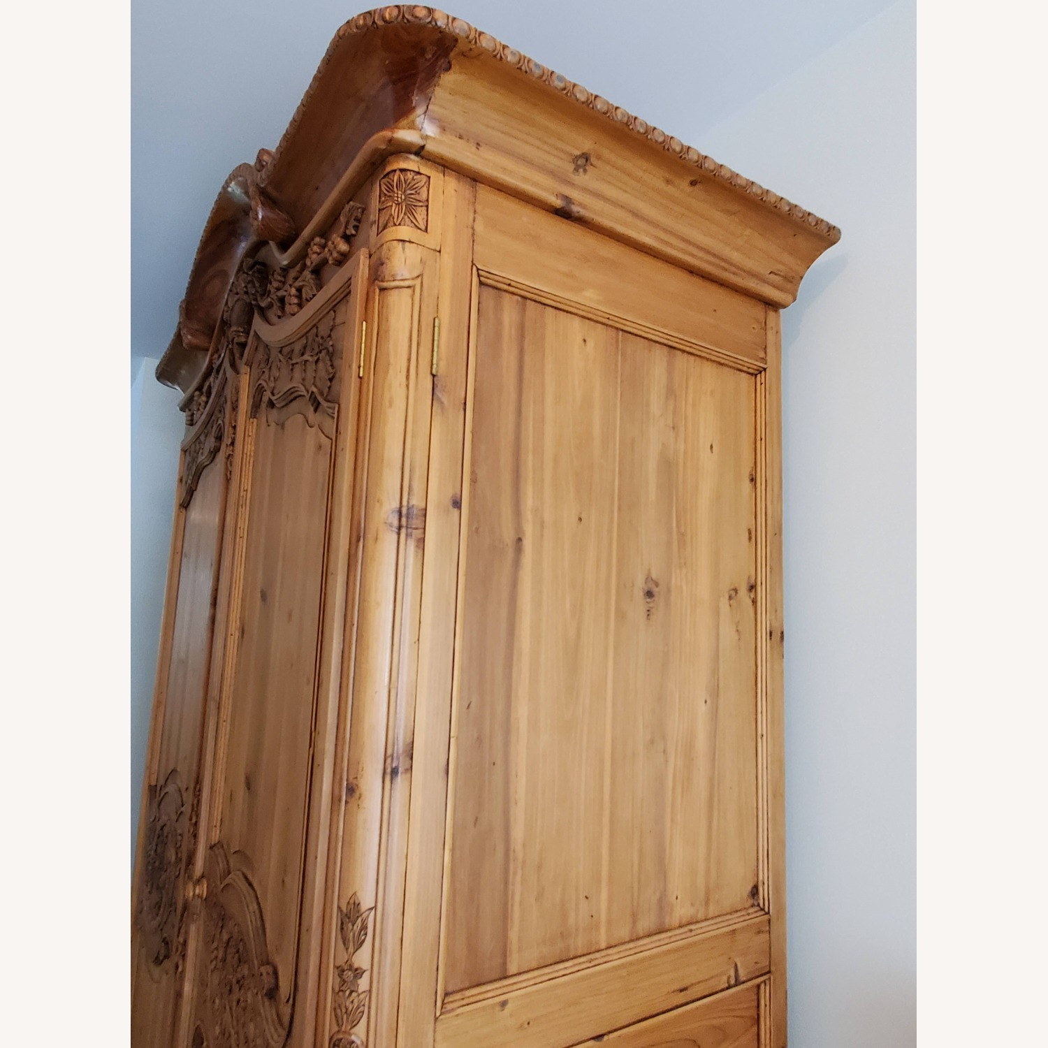 Hand Carved Armoire - image-3