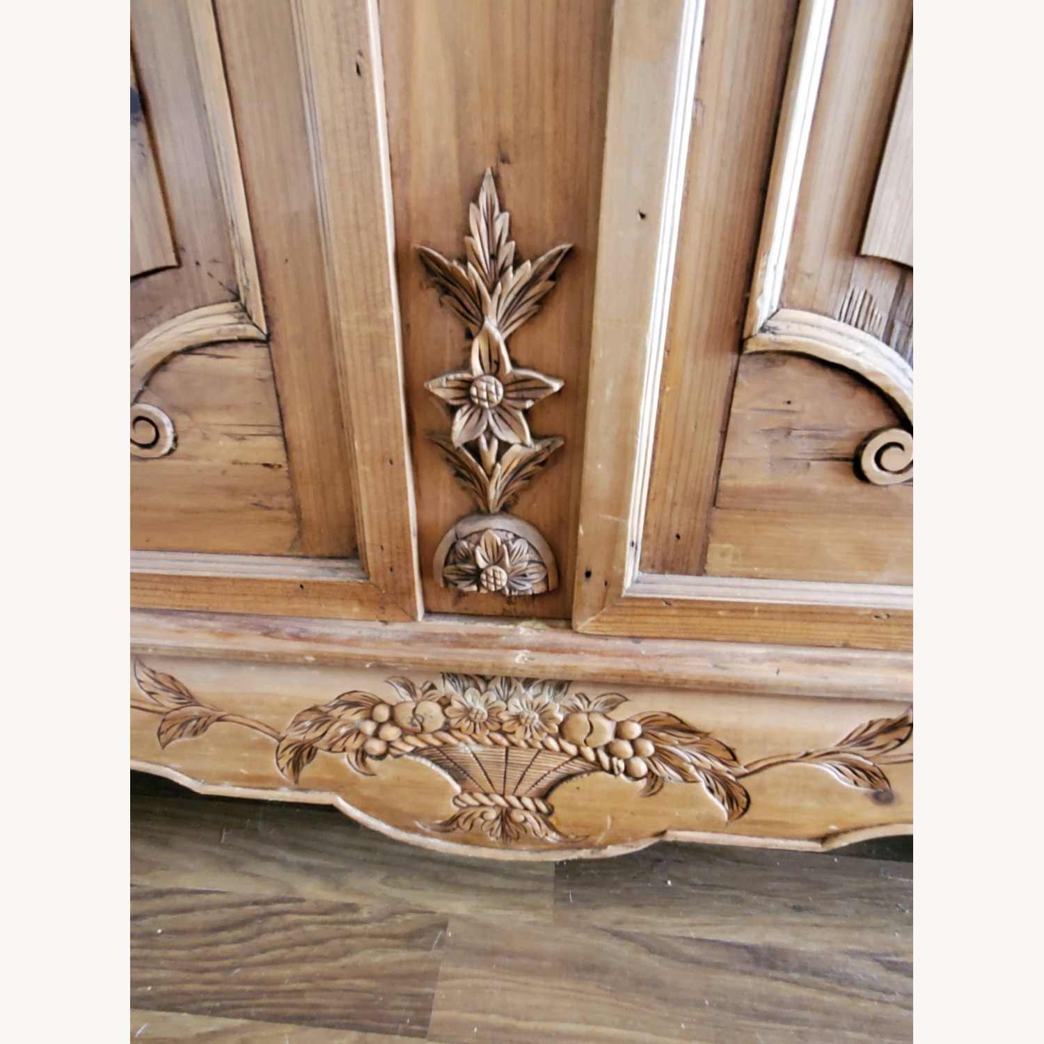 Hand Carved Armoire - image-5