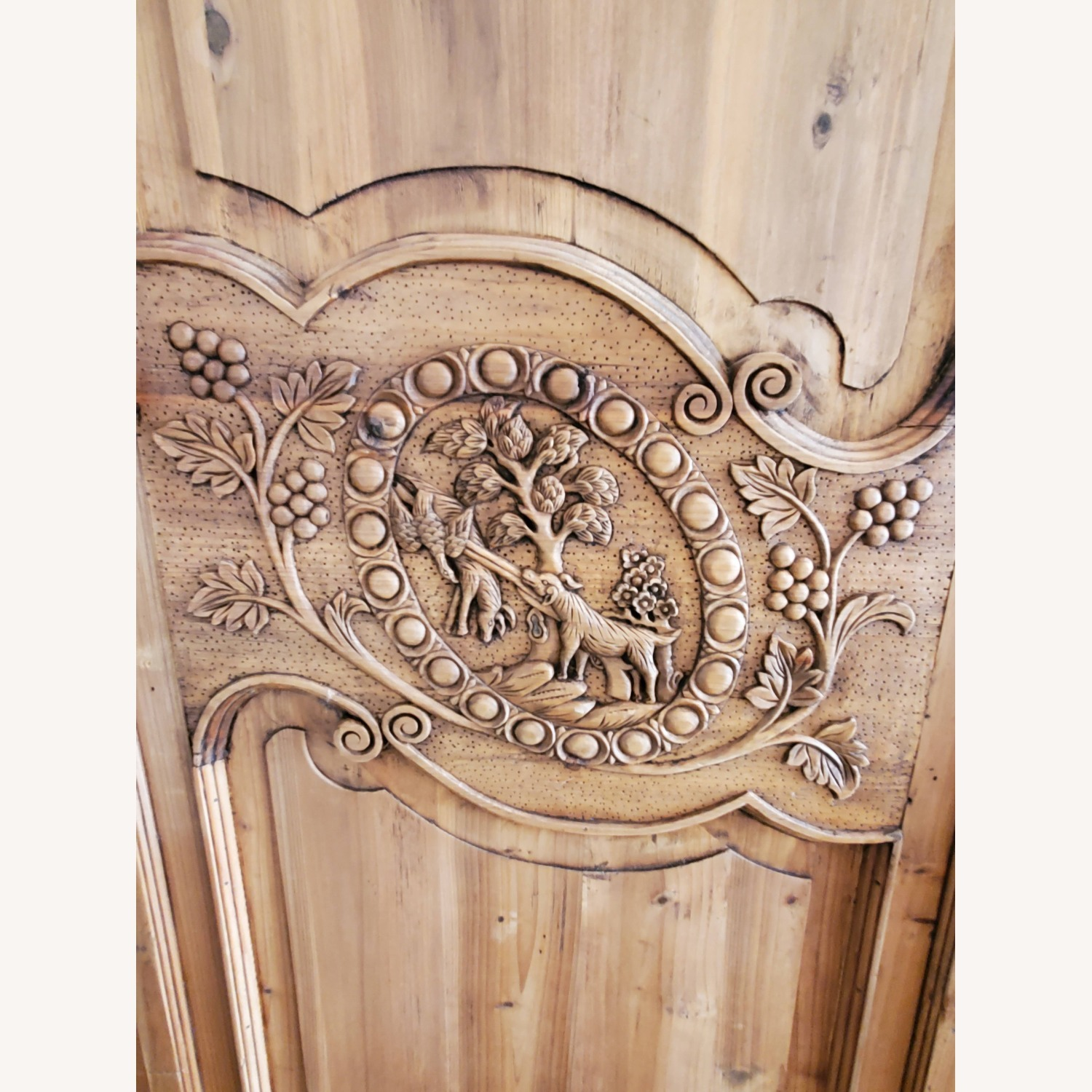 Hand Carved Armoire - image-7