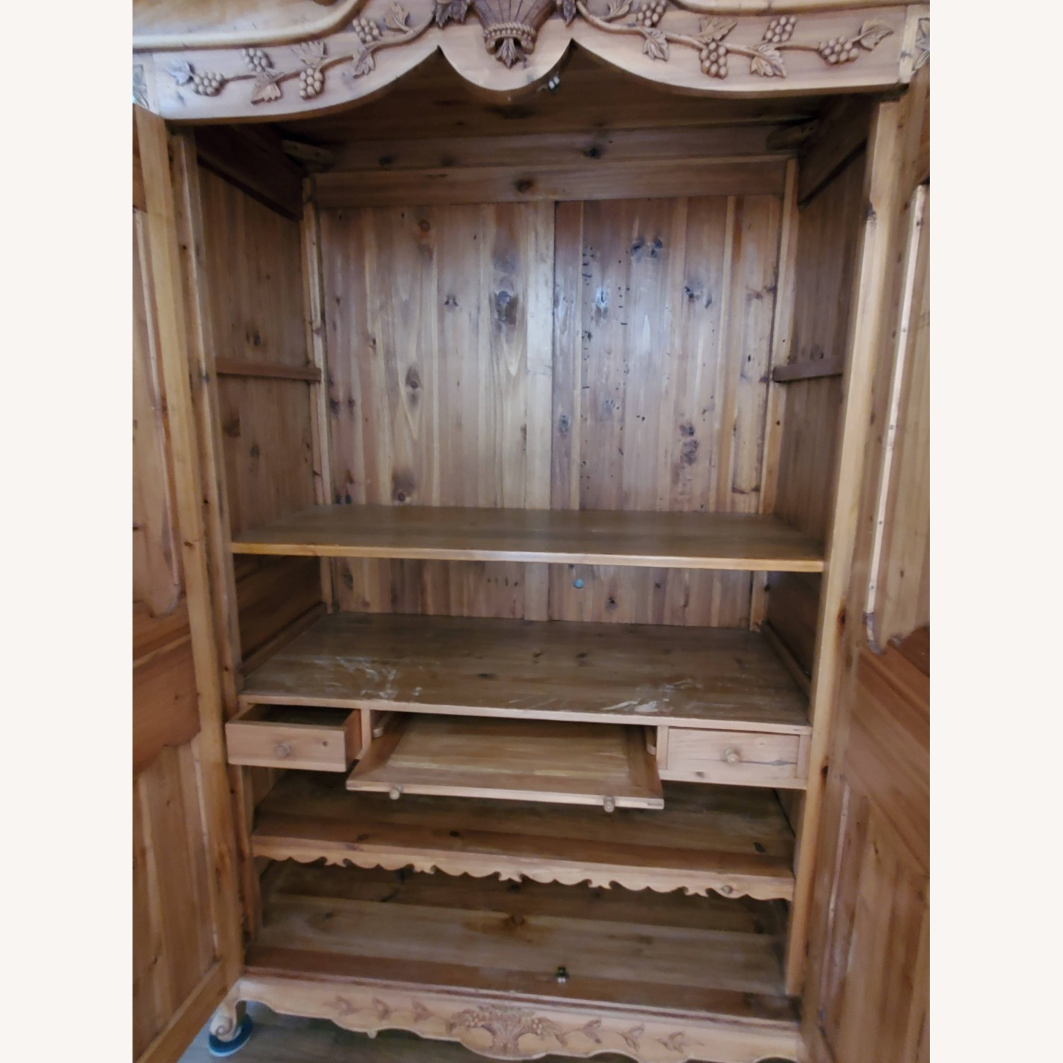 Hand Carved Armoire - image-10