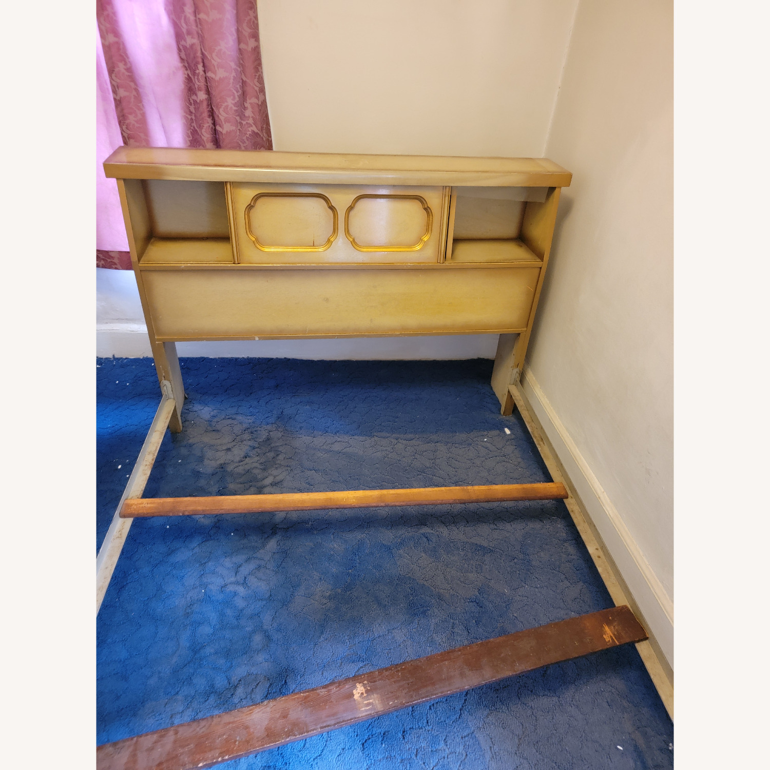 Wood Bed Frame with Slidable Head Board - image-6