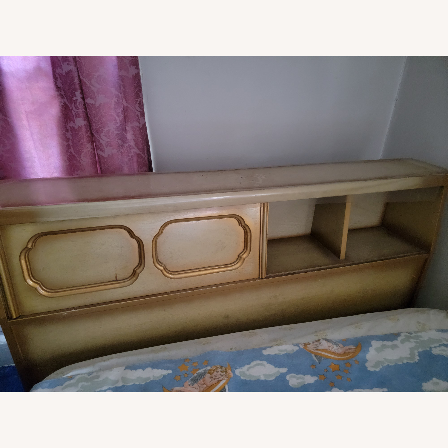 Wood Bed Frame with Slidable Head Board - image-3
