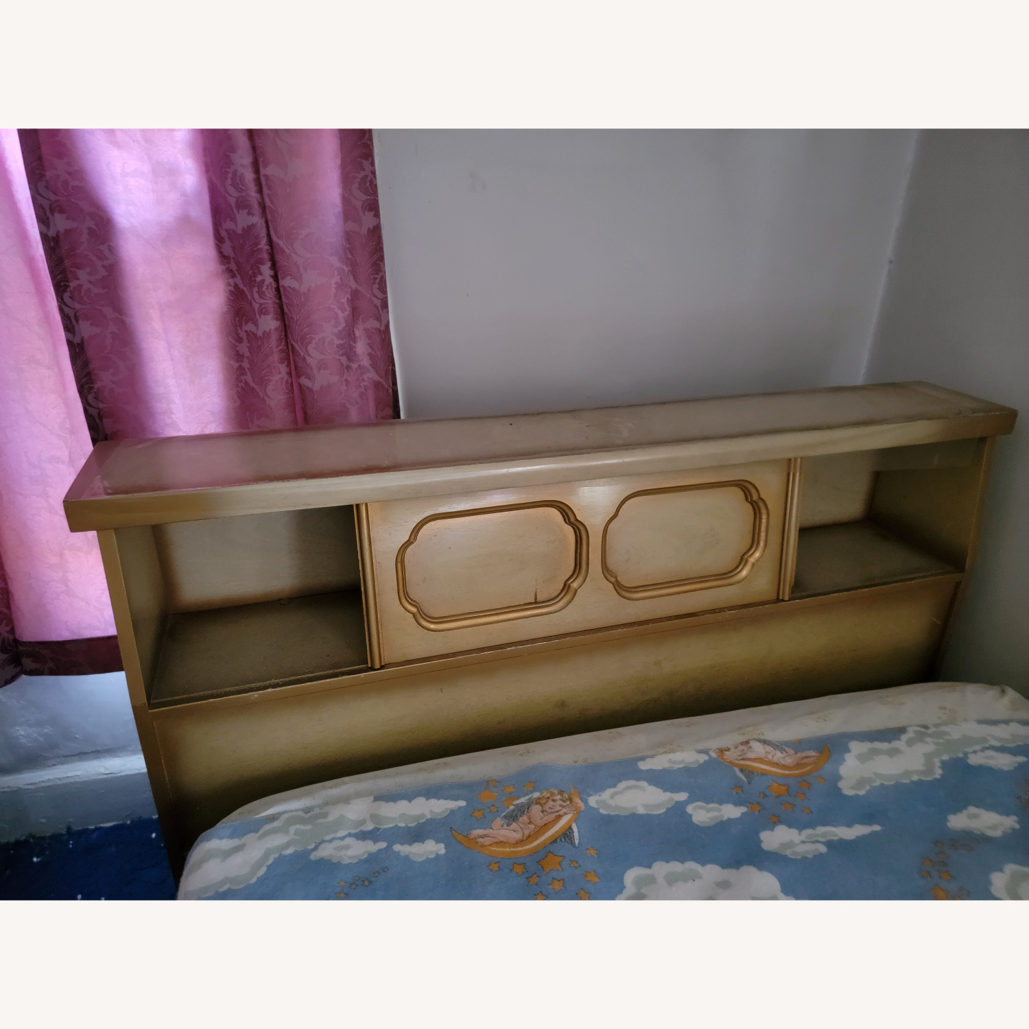 Wood Bed Frame with Slidable Head Board - image-2