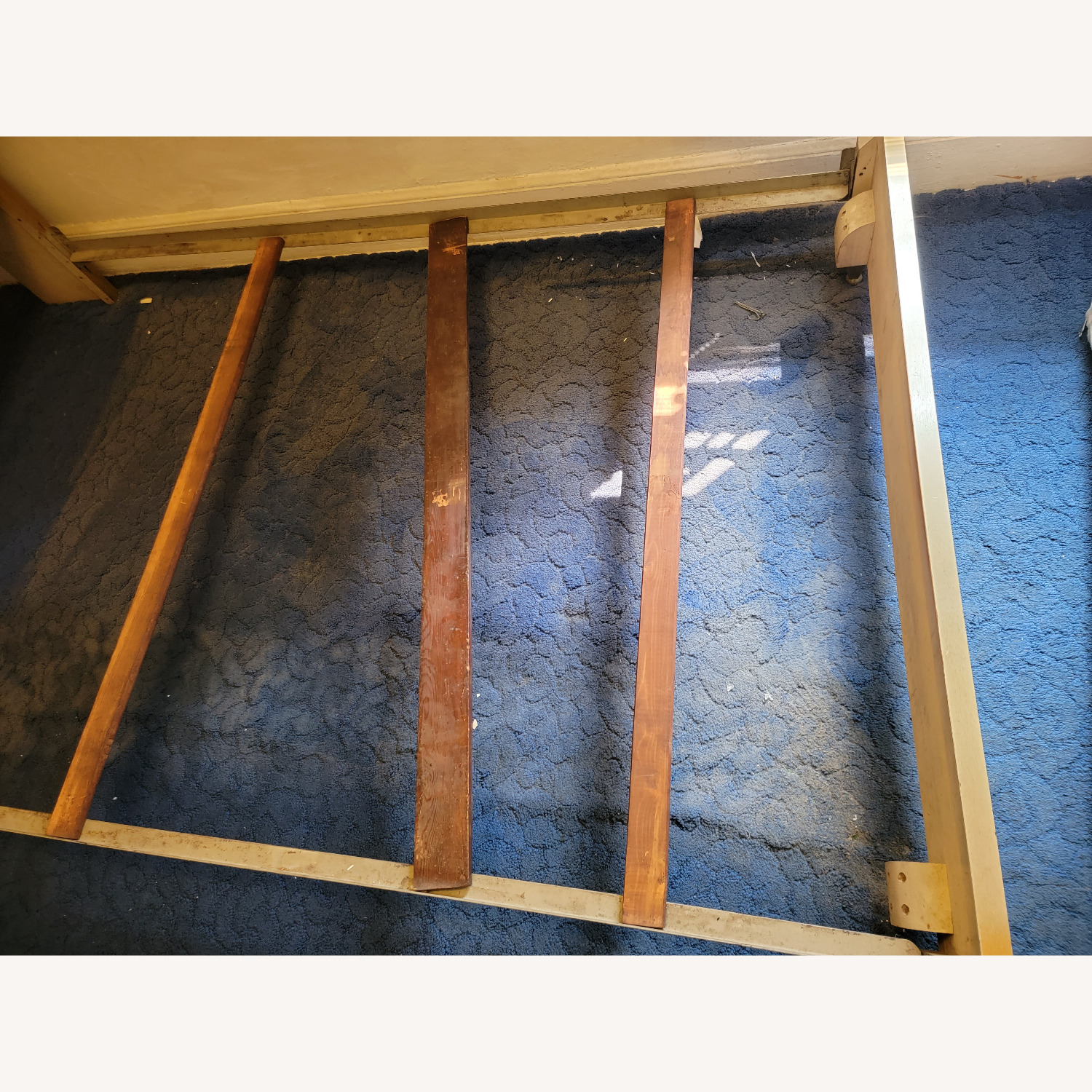 Wood Bed Frame with Slidable Head Board - image-5