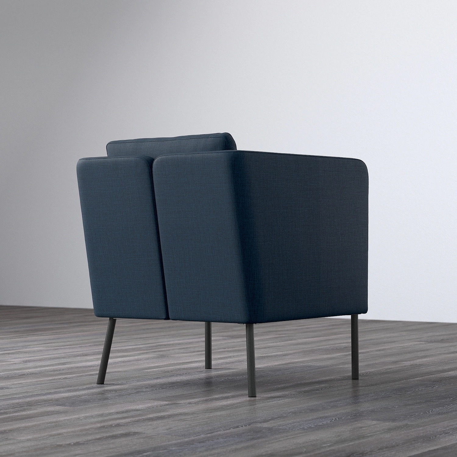 IKEA Black Leather Chair - image-3
