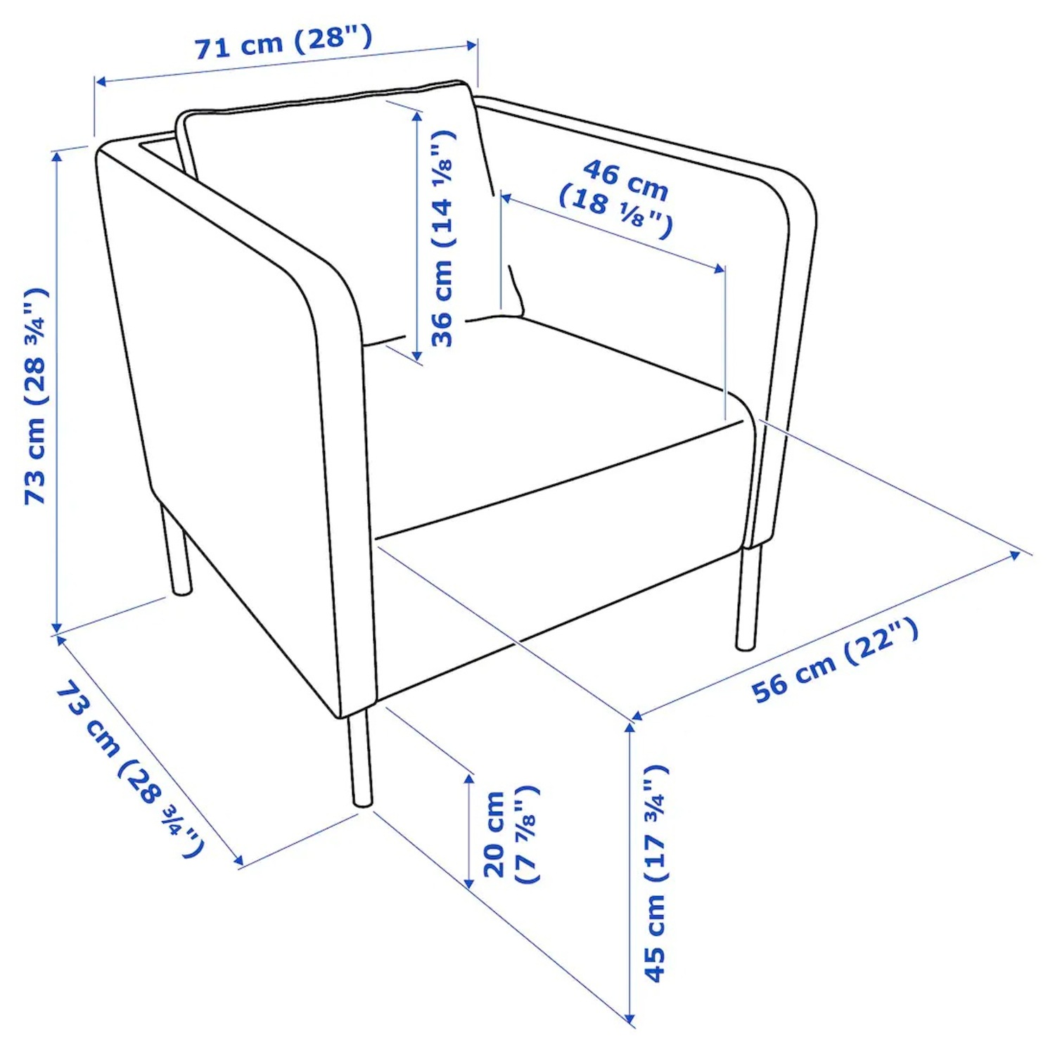 IKEA Black Leather Chair - image-2