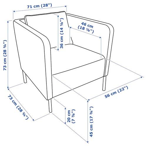 Used IKEA Black Leather Chair for sale on AptDeco