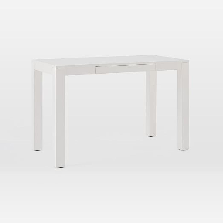 West Elm Two Drawer Parsons Desk - image-11