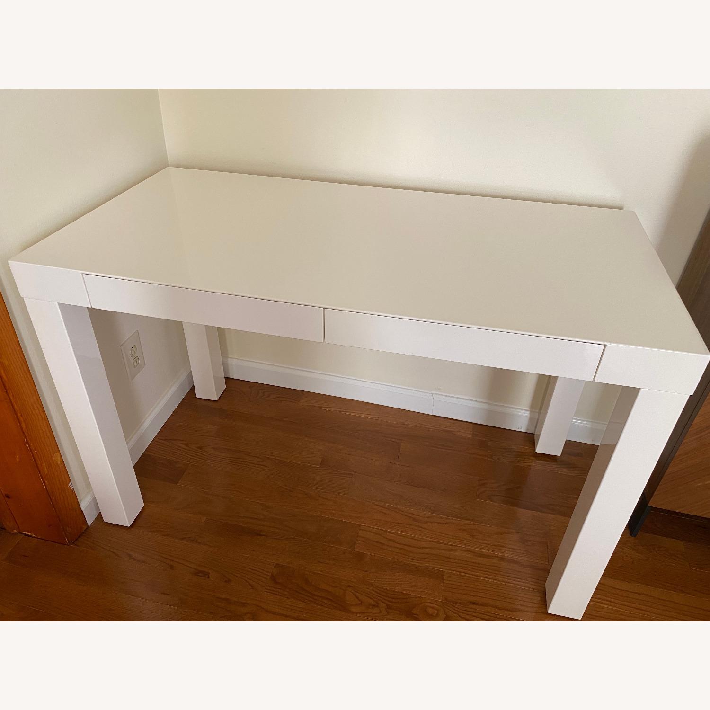 West Elm Two Drawer Parsons Desk - image-5