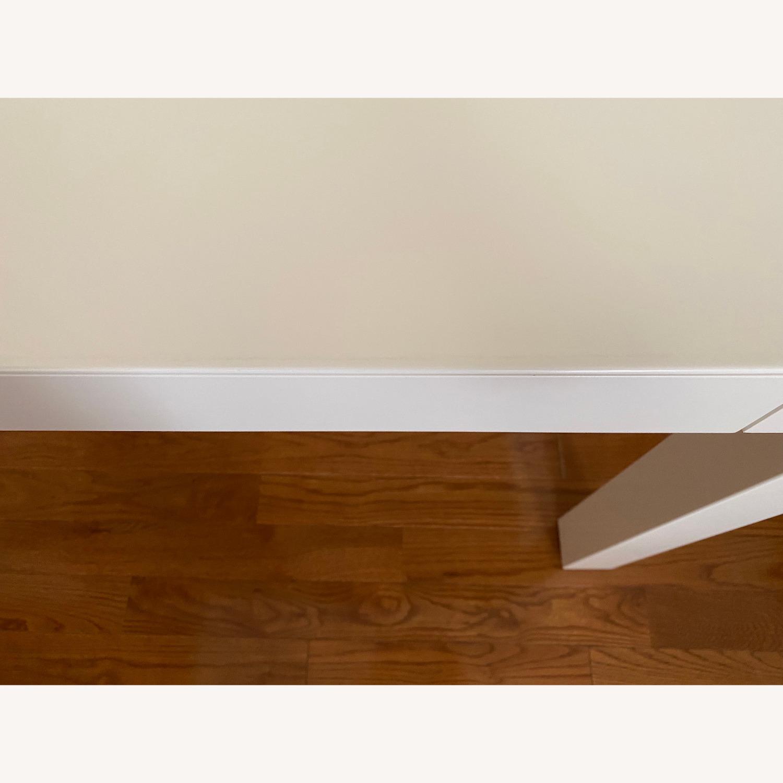 West Elm Two Drawer Parsons Desk - image-4