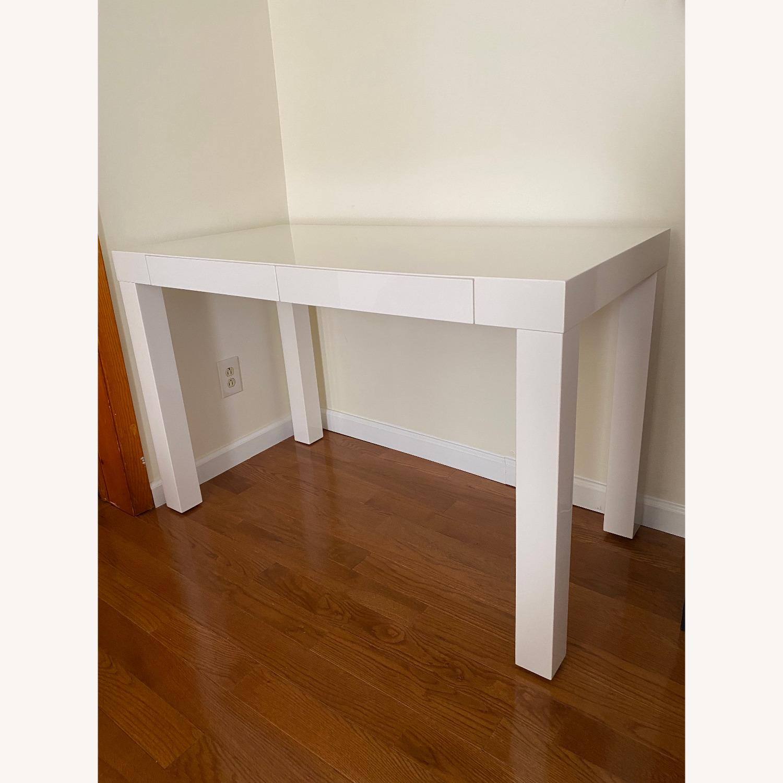 West Elm Two Drawer Parsons Desk - image-1