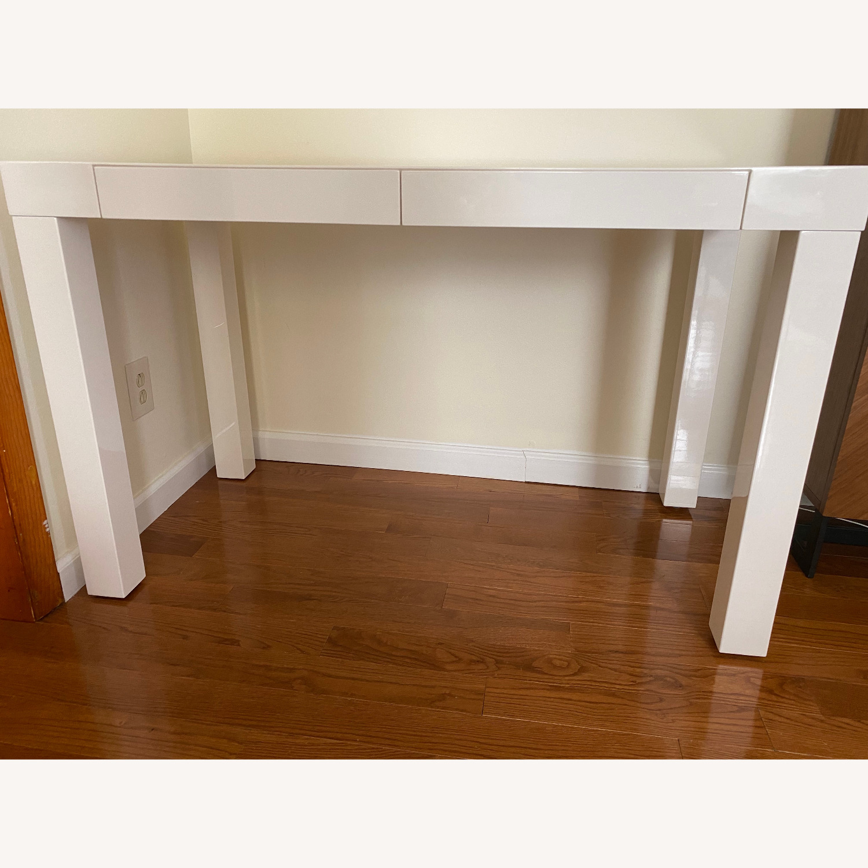 West Elm Two Drawer Parsons Desk - image-6