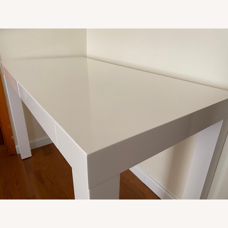 West Elm Two Drawer Parsons Desk - image-7