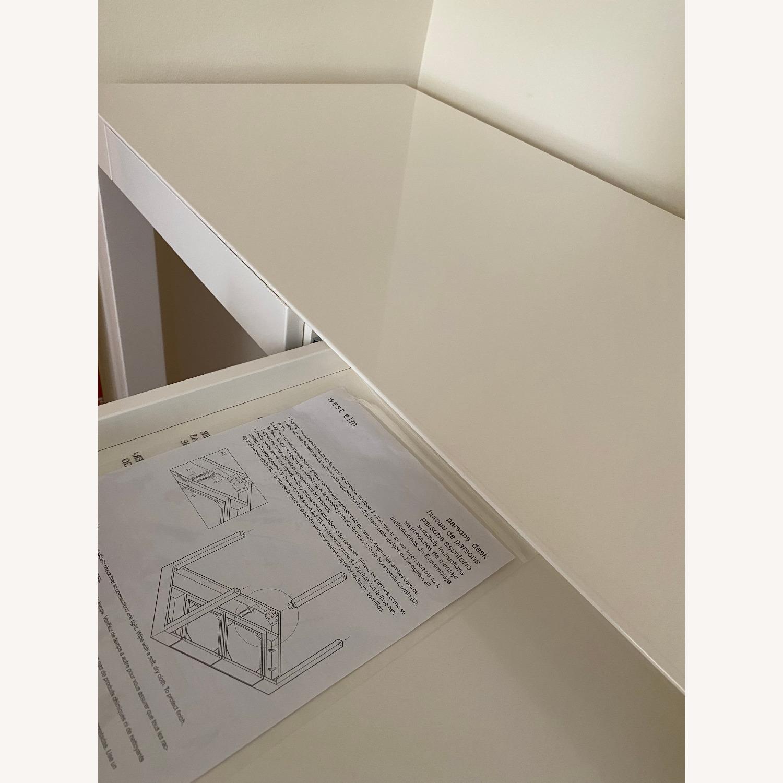 West Elm Two Drawer Parsons Desk - image-8