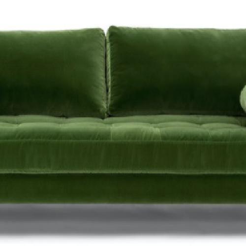 Used Article Grass Green Sven Velvet Sofa for sale on AptDeco