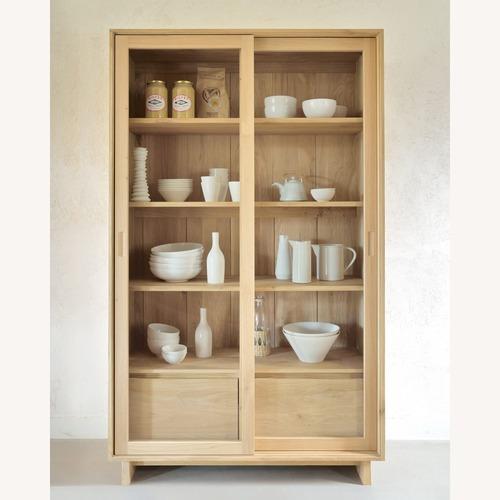 Used Ethnicraft Oak Wave Storage Cupboard for sale on AptDeco
