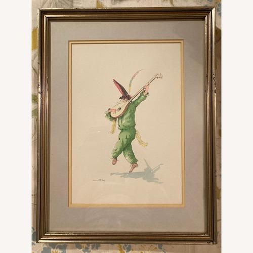 Used Commedia Dell'arte Watercolors - Venetian Artist for sale on AptDeco