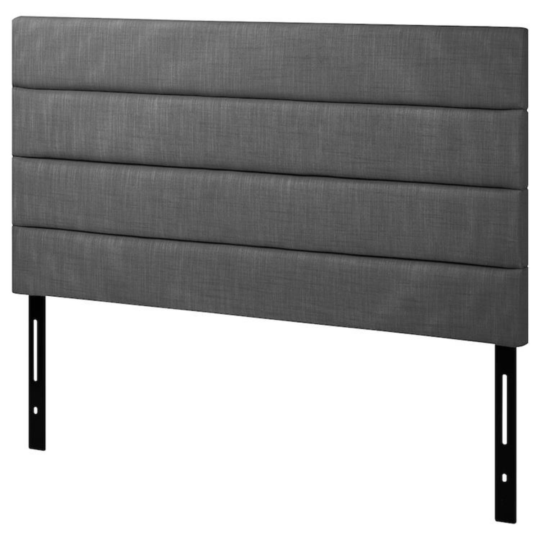 IKEA Eidsberg Gray Queen Headboard - image-1