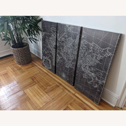 Used Oliver Gal World Map 1778 Triptych for sale on AptDeco