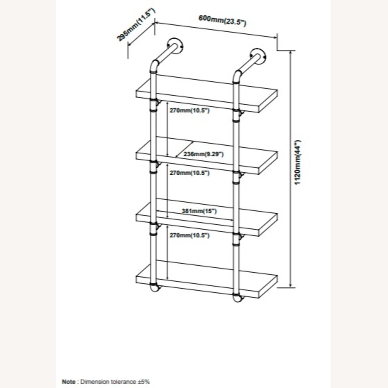 24-Inch Wall Shelf In Grey Driftwood Finish - image-6