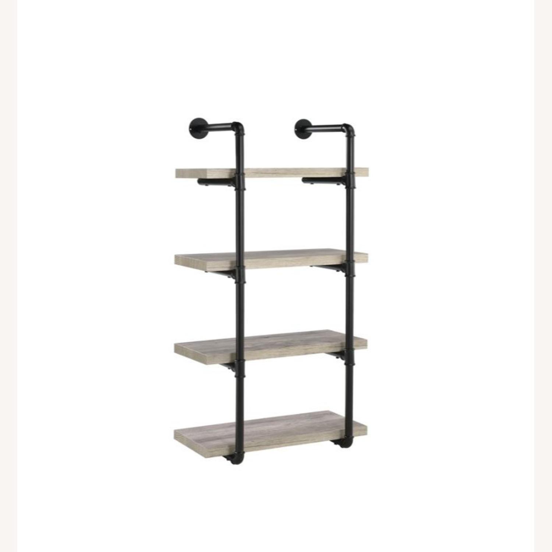 24-Inch Wall Shelf In Grey Driftwood Finish - image-0