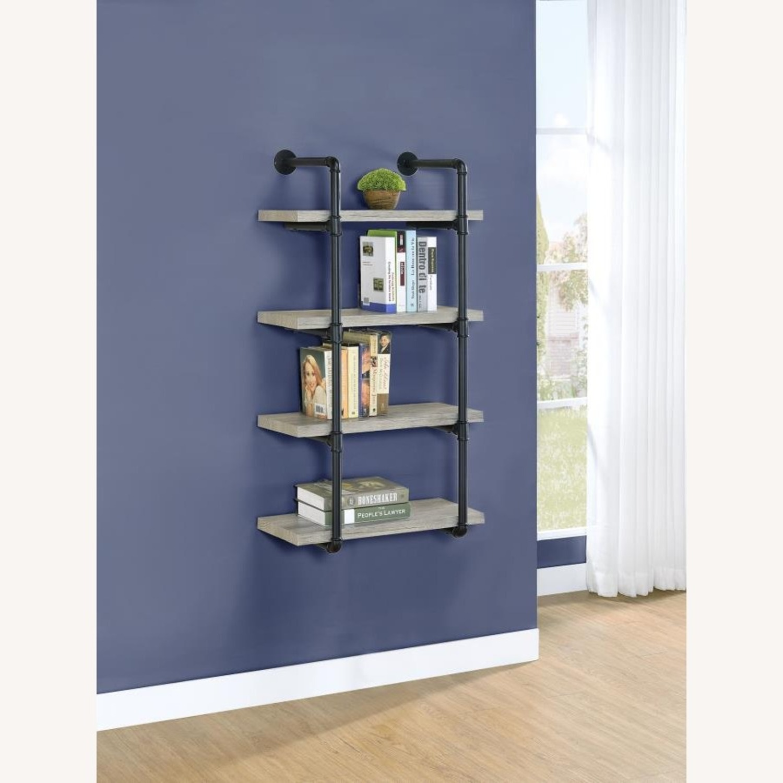 24-Inch Wall Shelf In Grey Driftwood Finish - image-5