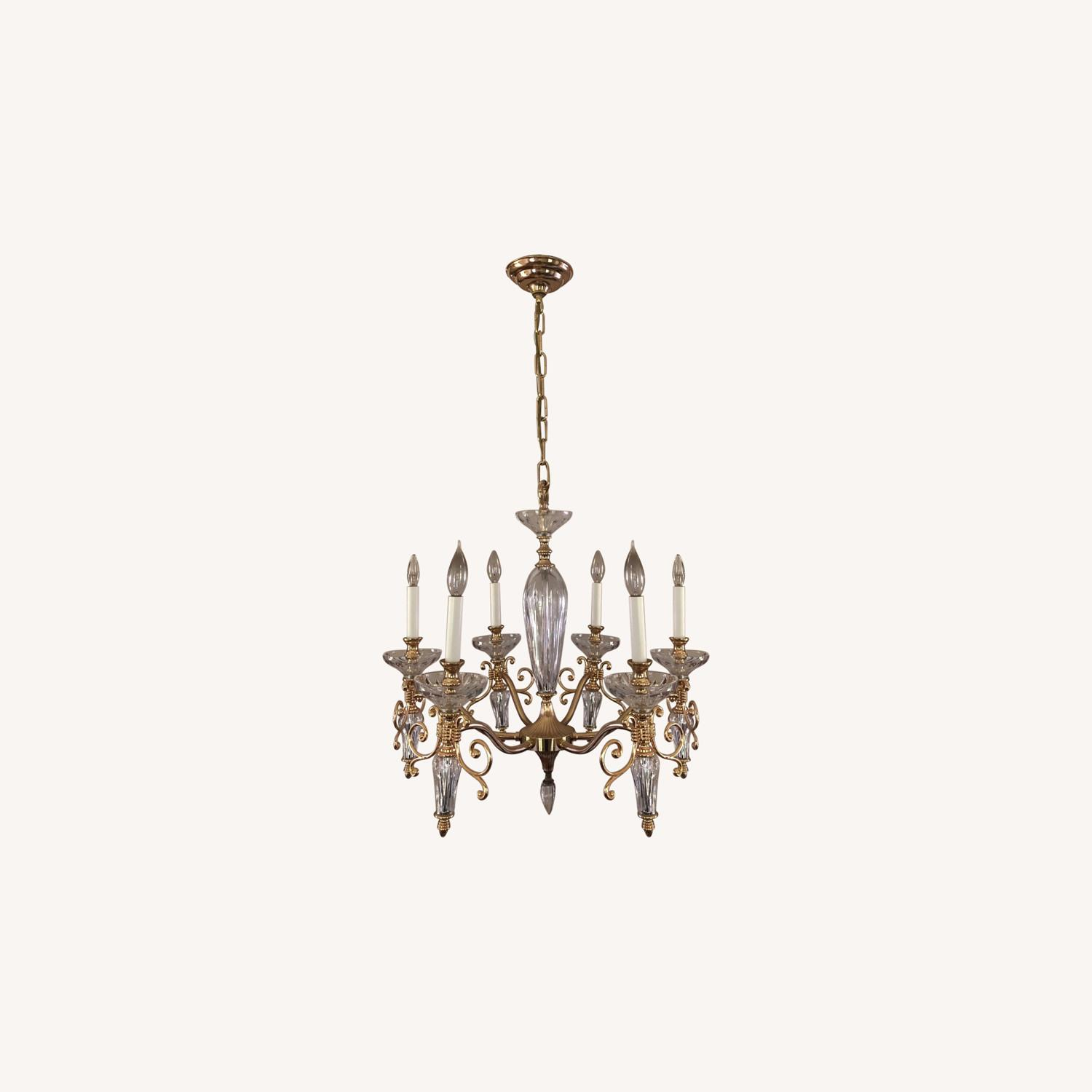 Waterford Crystal & Brass Chandelier - image-0