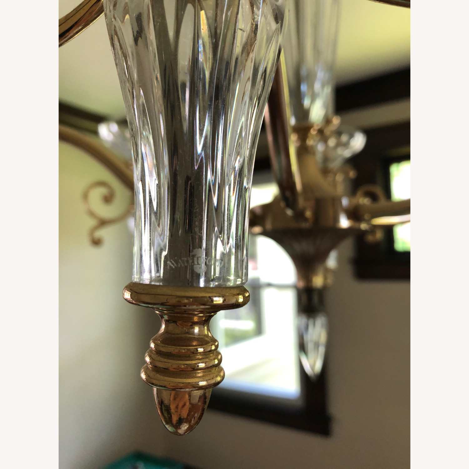Waterford Crystal & Brass Chandelier - image-9