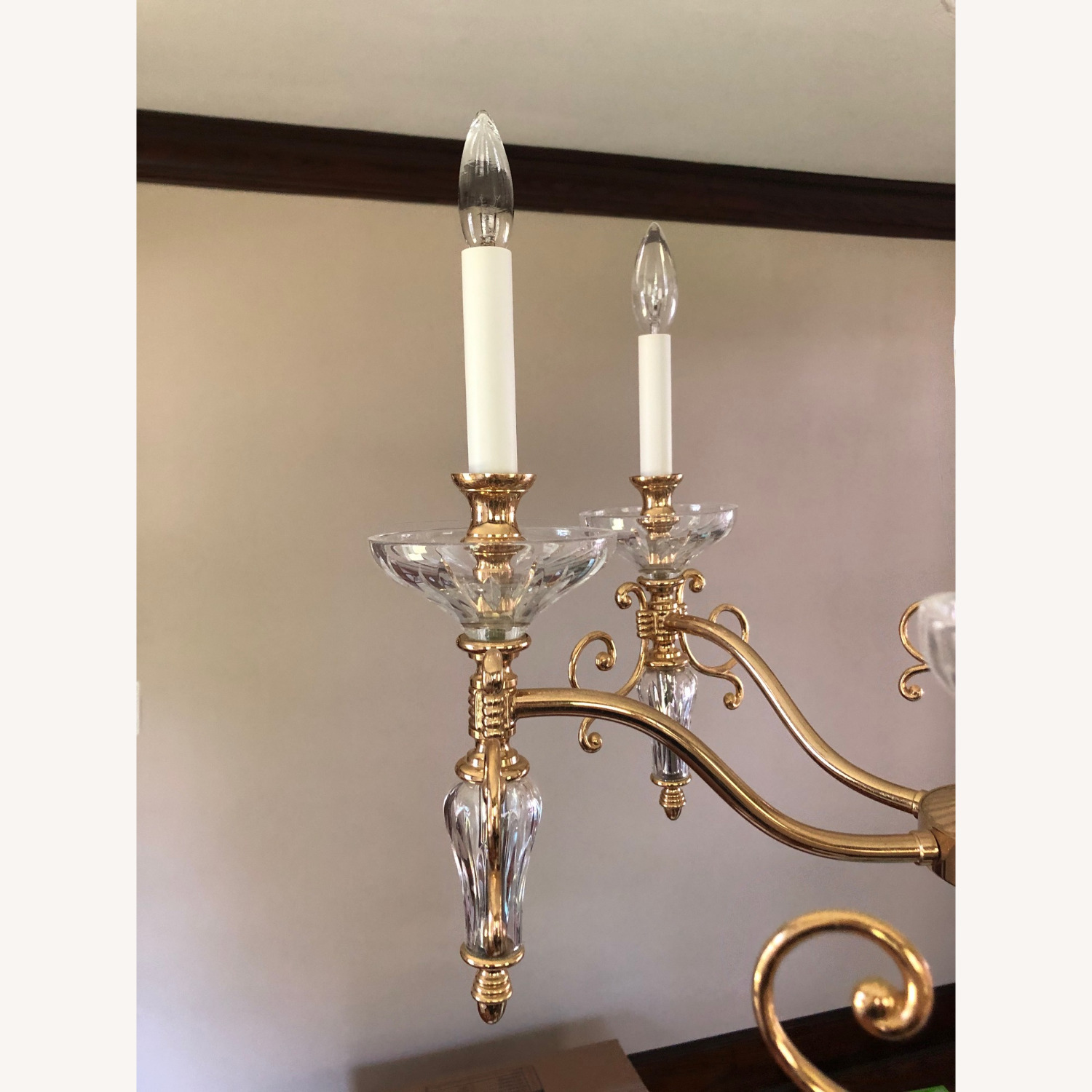 Waterford Crystal & Brass Chandelier - image-3