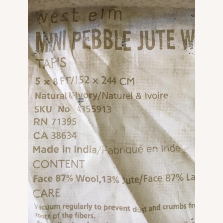 West Elm Mini Pebble Jute and Wool Rug - image-3