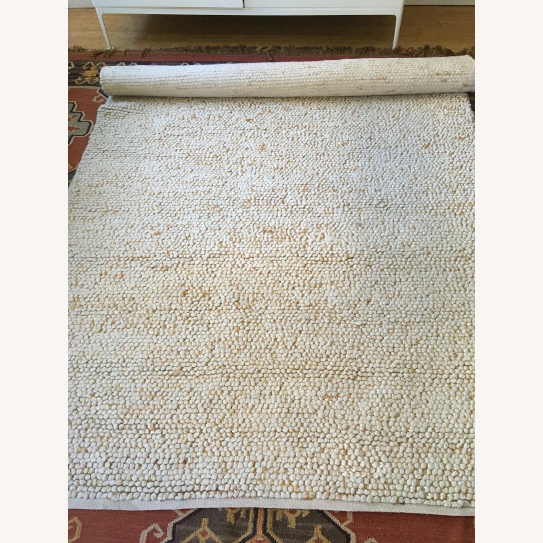 West Elm Mini Pebble Jute and Wool Rug - image-1