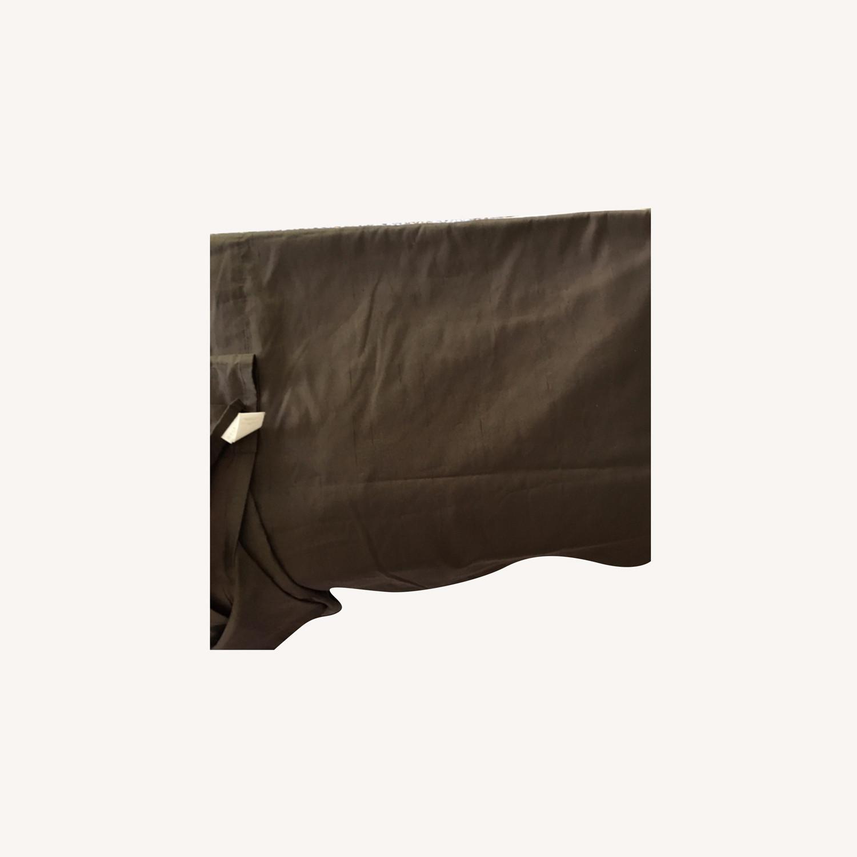 West Elm Set of 2 Pure Silk Mocha Curtains - image-0