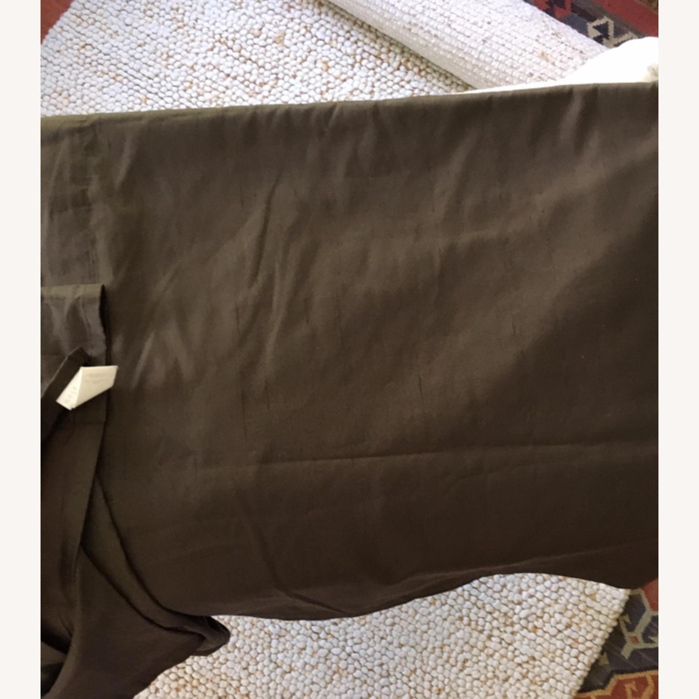West Elm Set of 2 Pure Silk Mocha Curtains - image-3