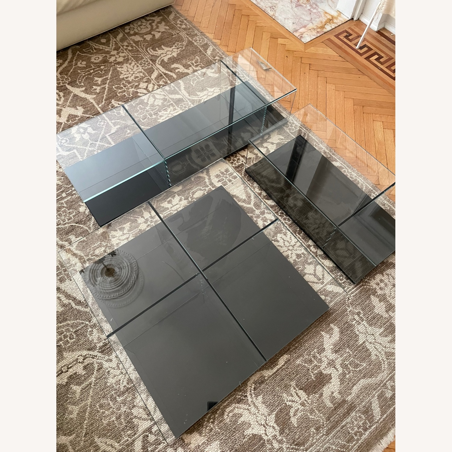 Cassina Mex Low Glass Table Set - image-4