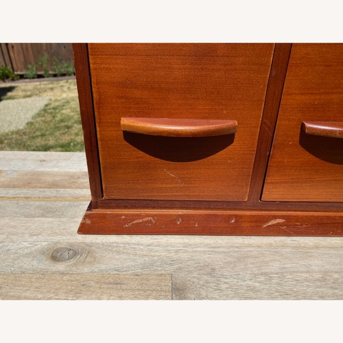 Used Williams-Sonoma Hold Everything Brown Hutch for sale on AptDeco