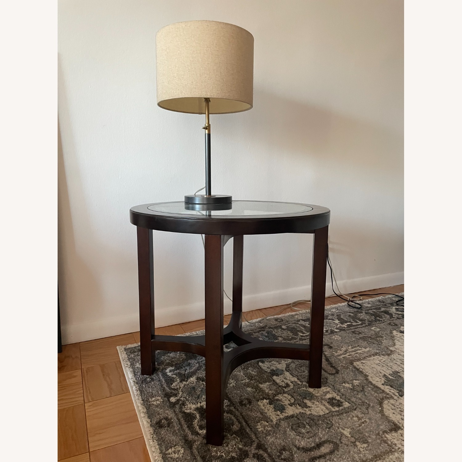 Magnussen Glass Cocoa Side Table - image-1
