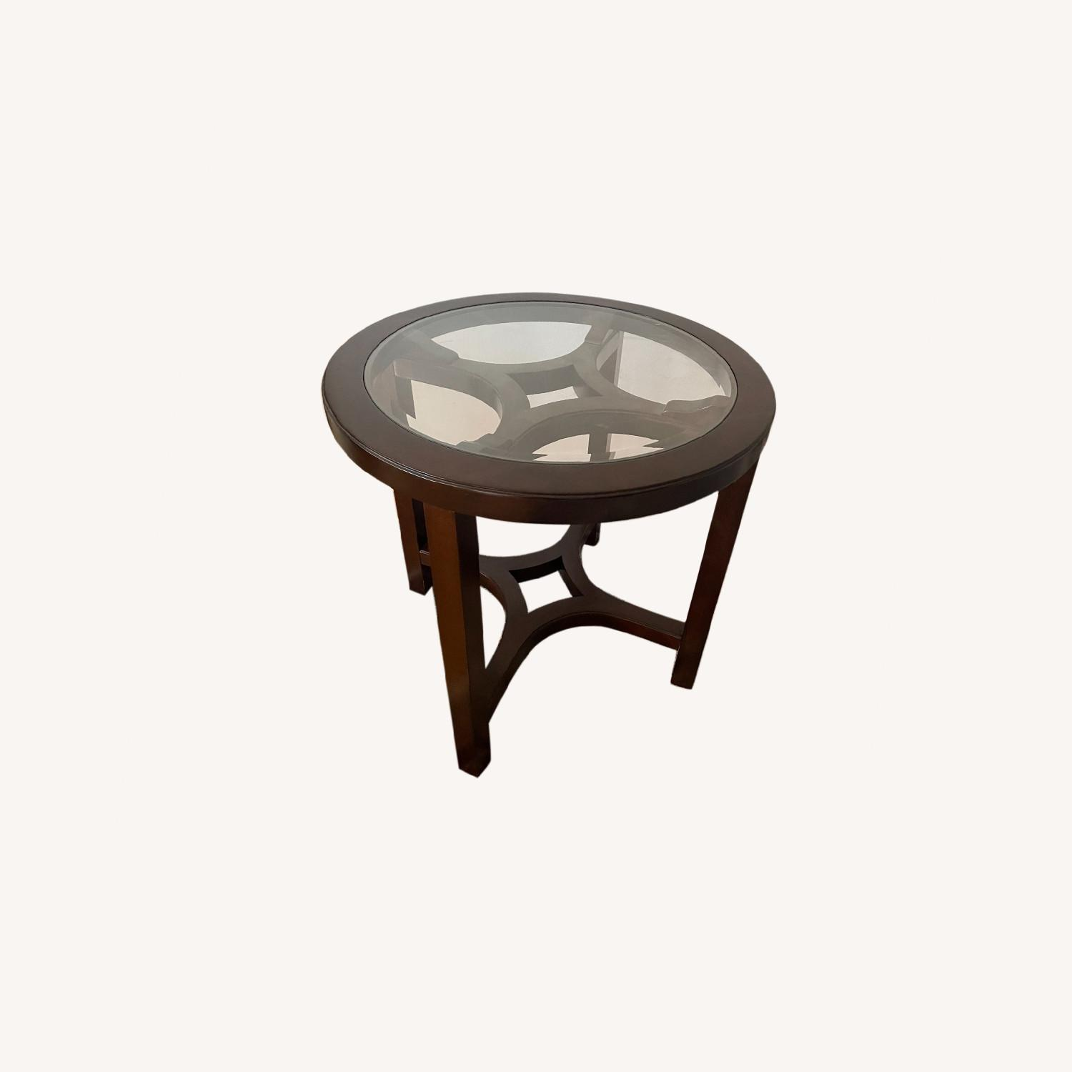 Magnussen Glass Cocoa Side Table - image-0