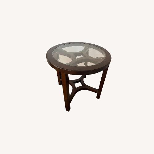 Used Magnussen Glass Cocoa Side Table for sale on AptDeco