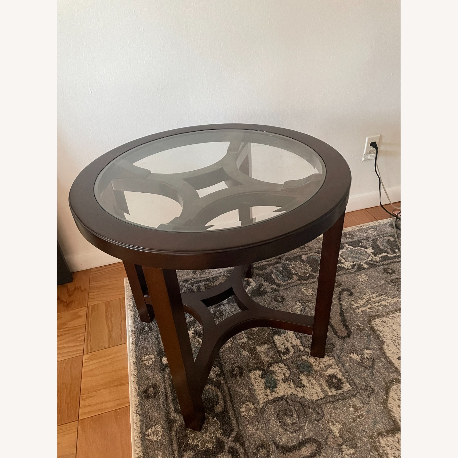 Magnussen Glass Cocoa Side Table - image-2