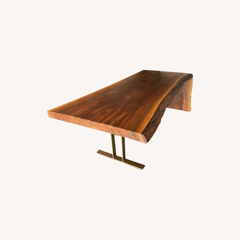 High-end live Edge Walnut Table Desk - image-0