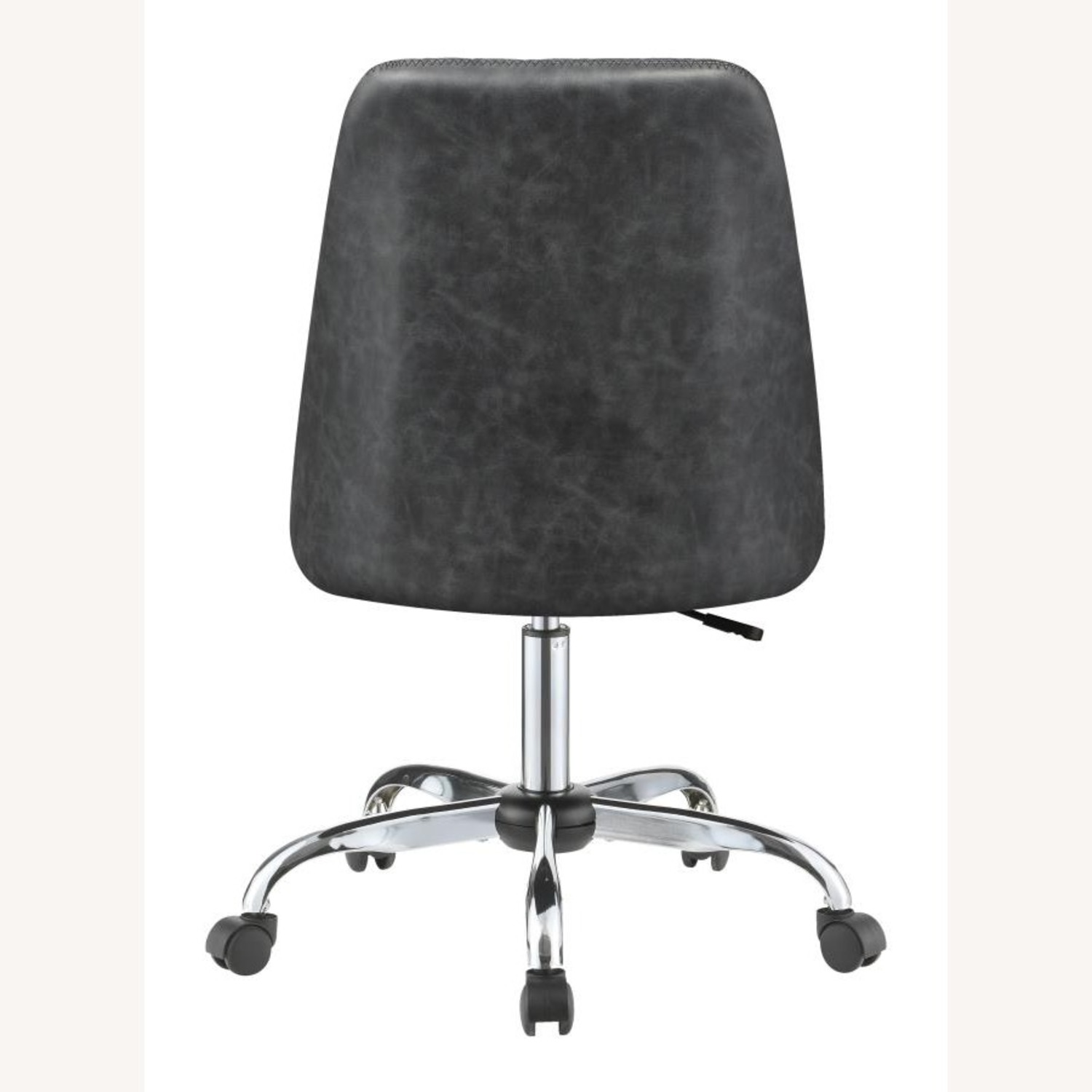 Office Chair In Tufted Grey Leatherette Upholstery - image-4