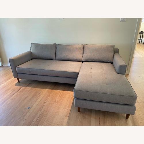 Used G-Romano Gray Reversible Chaise Sofa for sale on AptDeco