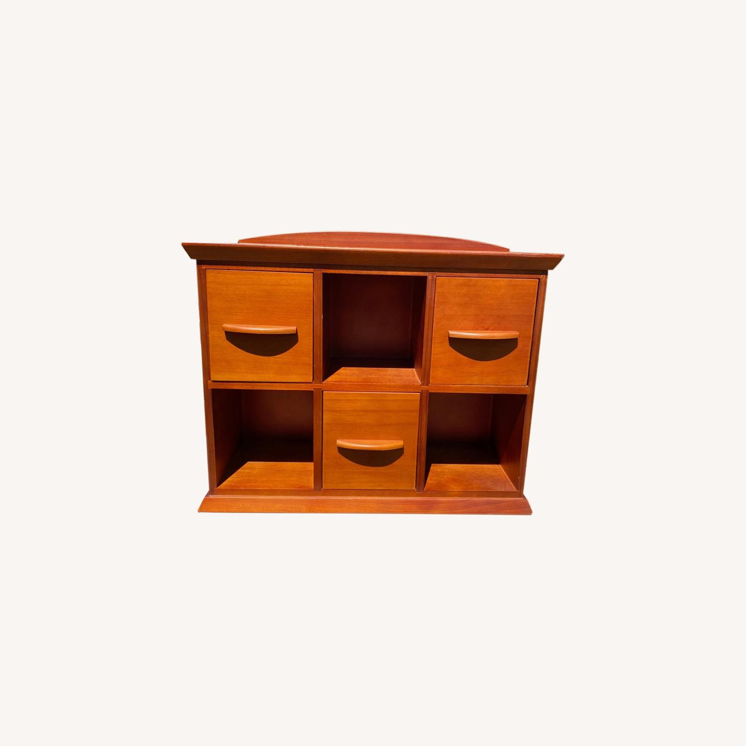 Williams Sonoma Hold Everything Brown Hutch - image-0