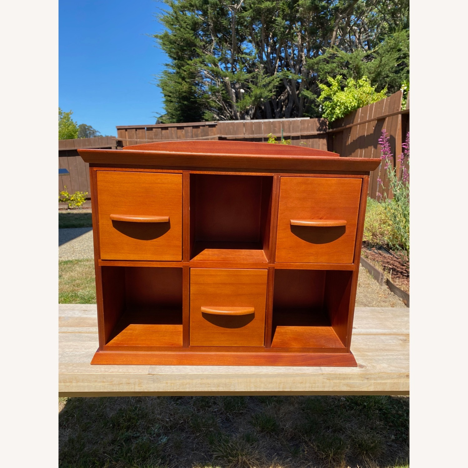 Williams Sonoma Hold Everything Brown Hutch - image-1