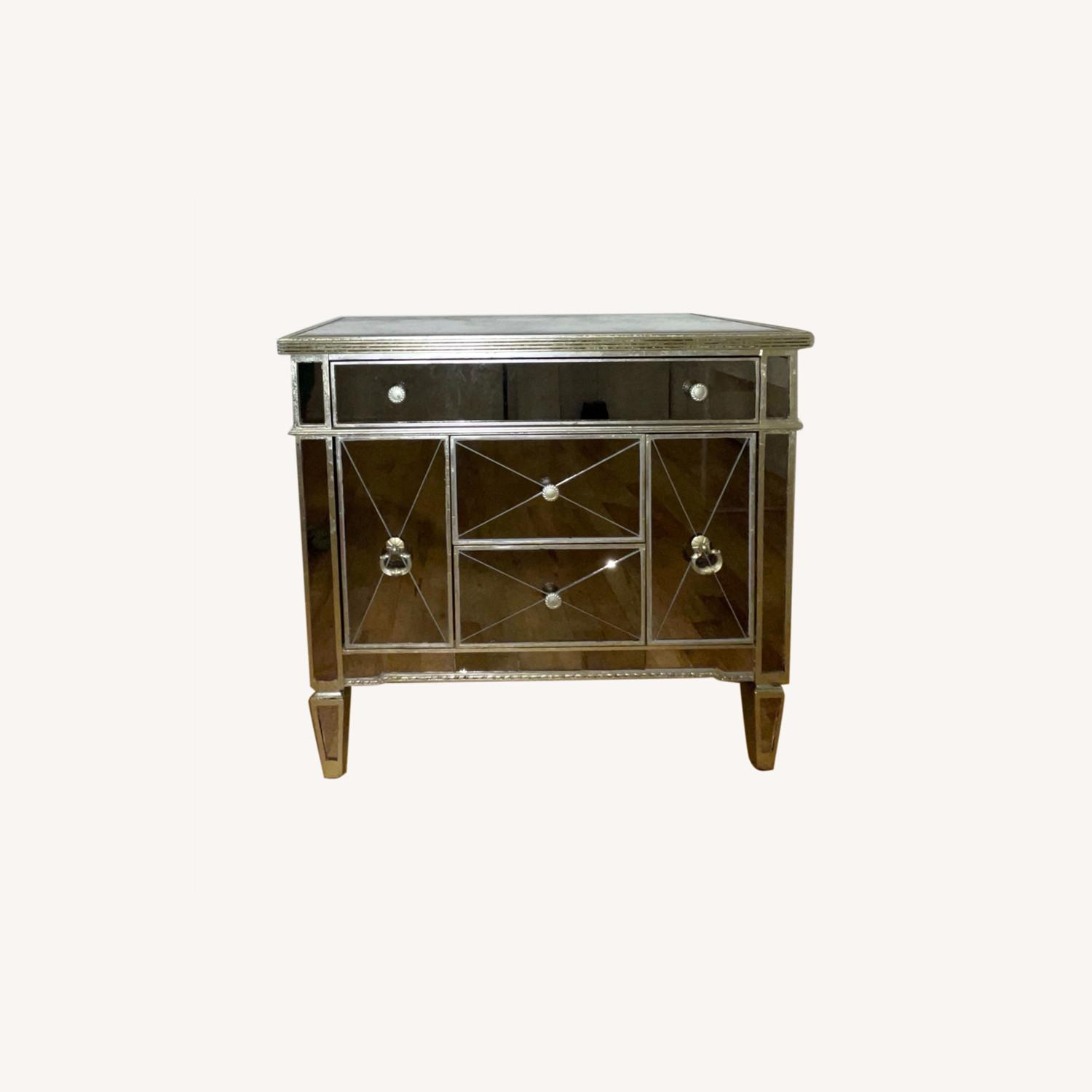 Z Gallerie Borghese Mirror Dresser Table - image-0