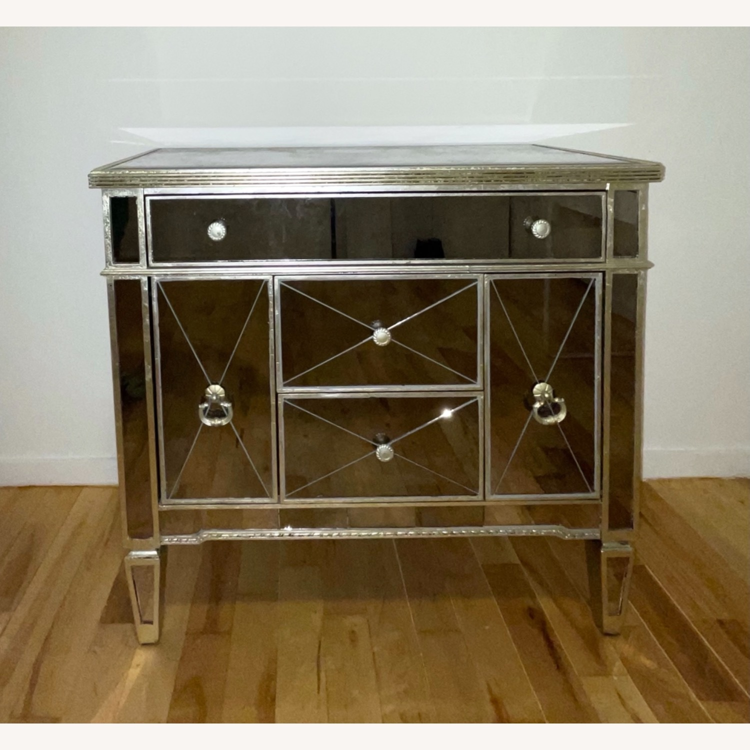 Z Gallerie Borghese Mirror Dresser Table - image-1